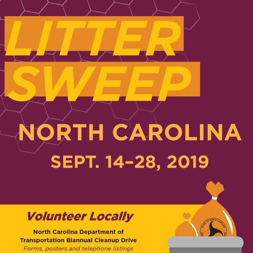 Litter Sweep North Carolina Sept. 14-28, 2019