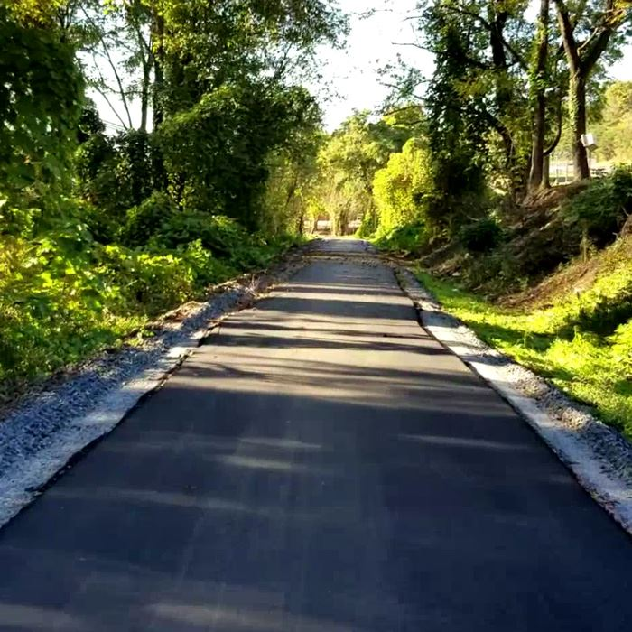 A section of the new greenway between Robbins Avenue and Willow Street in Lenoir.