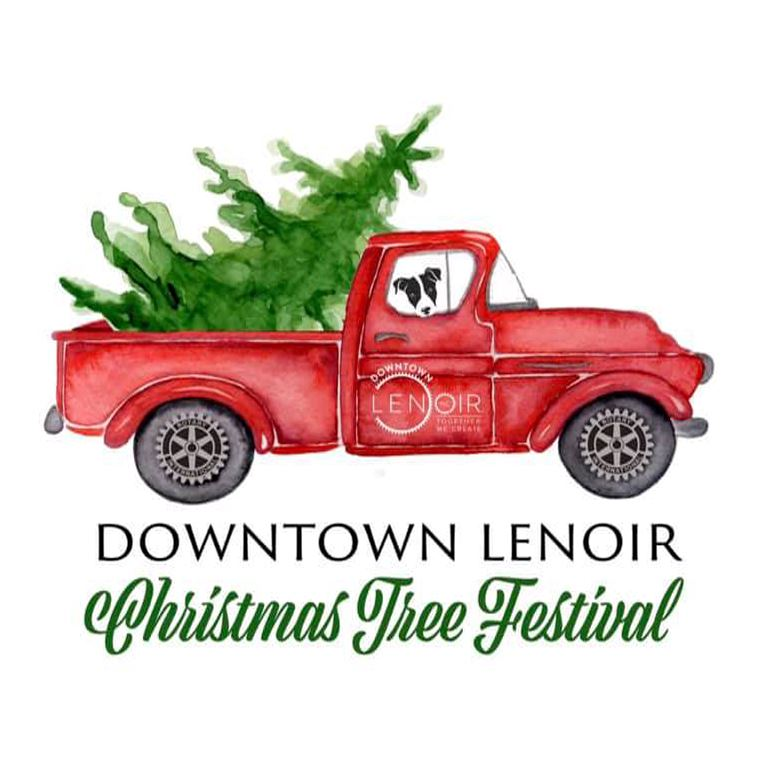 Downtown Lenoir Christmas Tree Festival logo