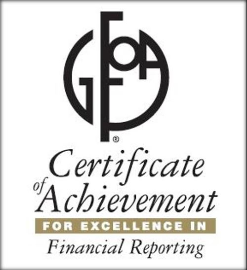 GFOA Certificate of Achievement for Excellence in Financial Reporting