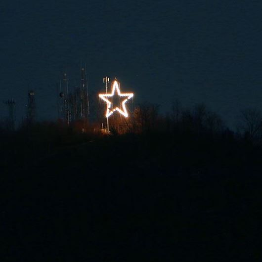 Christmas Star on Hibriten Mountain