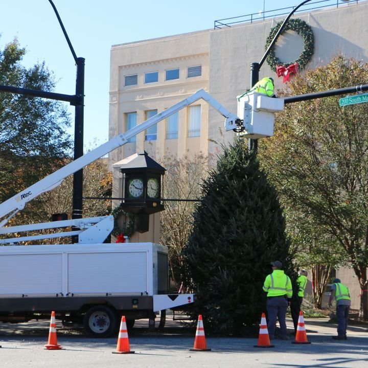 City of Lenoir Christmas tree in Downtown Lenoir, Nov. 18, 2020