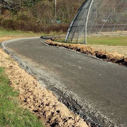 City workers have graded and prepped new section of greenway at T.H. Wilson Park.