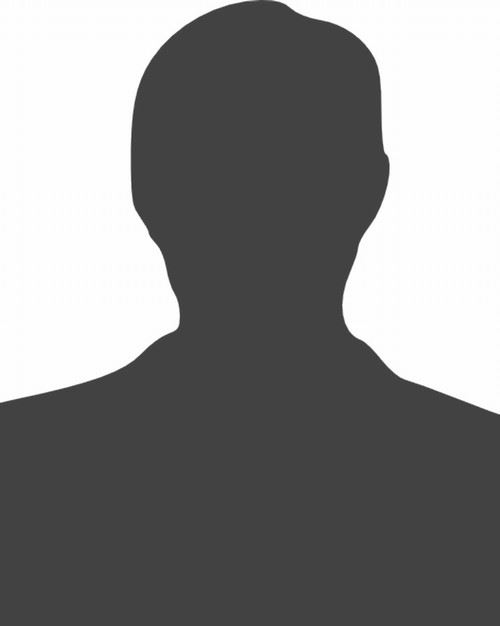 Grey silhouette of person