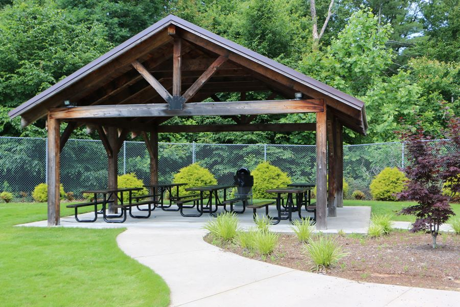 Picnic Shelter at the Lenoir Aquatic and Fitness Center