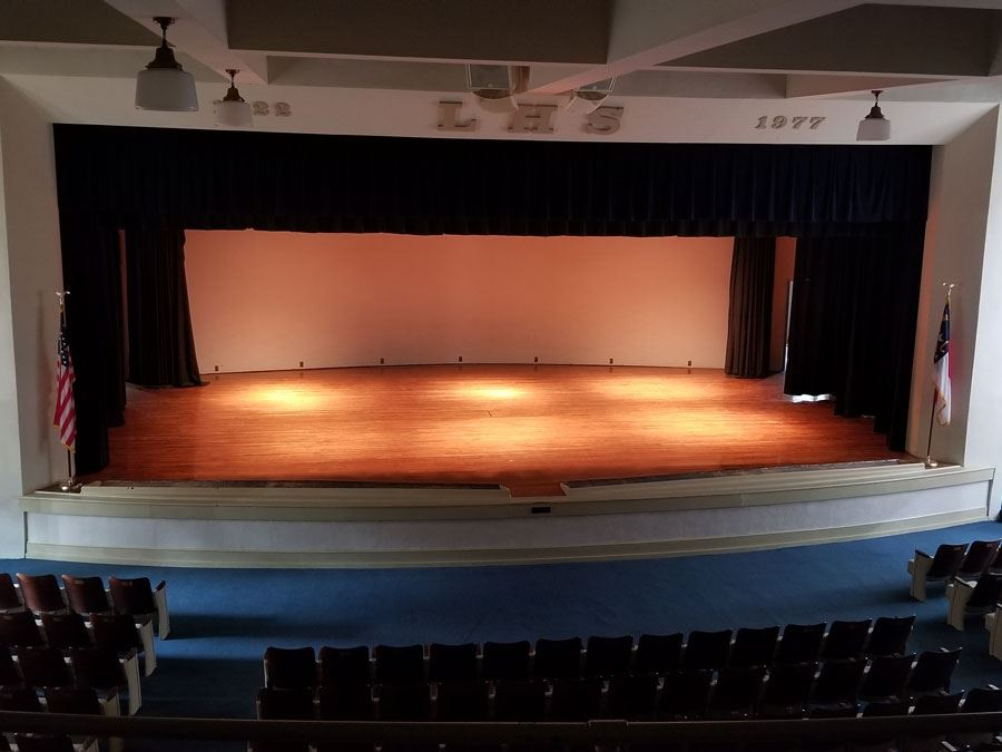 Lenoir High School Auditorium Stage