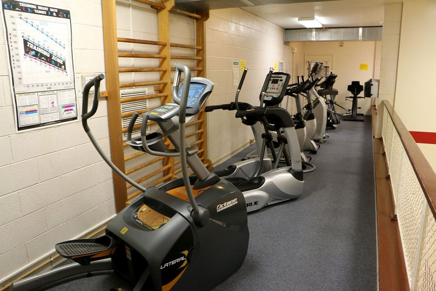 Aerobics Equipment at the Lenoir Aquatic and Fitness Center in Lenoir