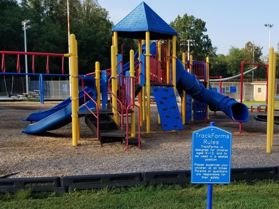 Playground at Mulberry Recreation Center in Lenoir