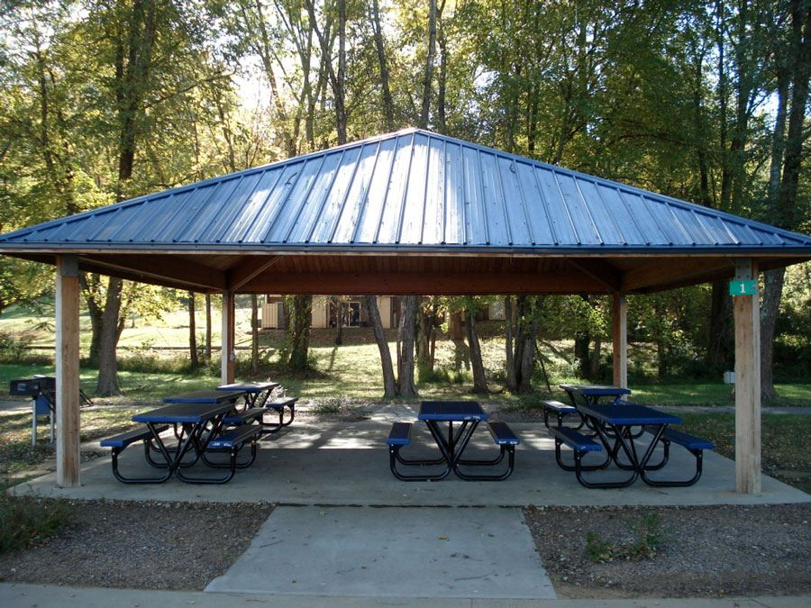 Picnic Shelter at Mulberry Recreation Center in Lenoir