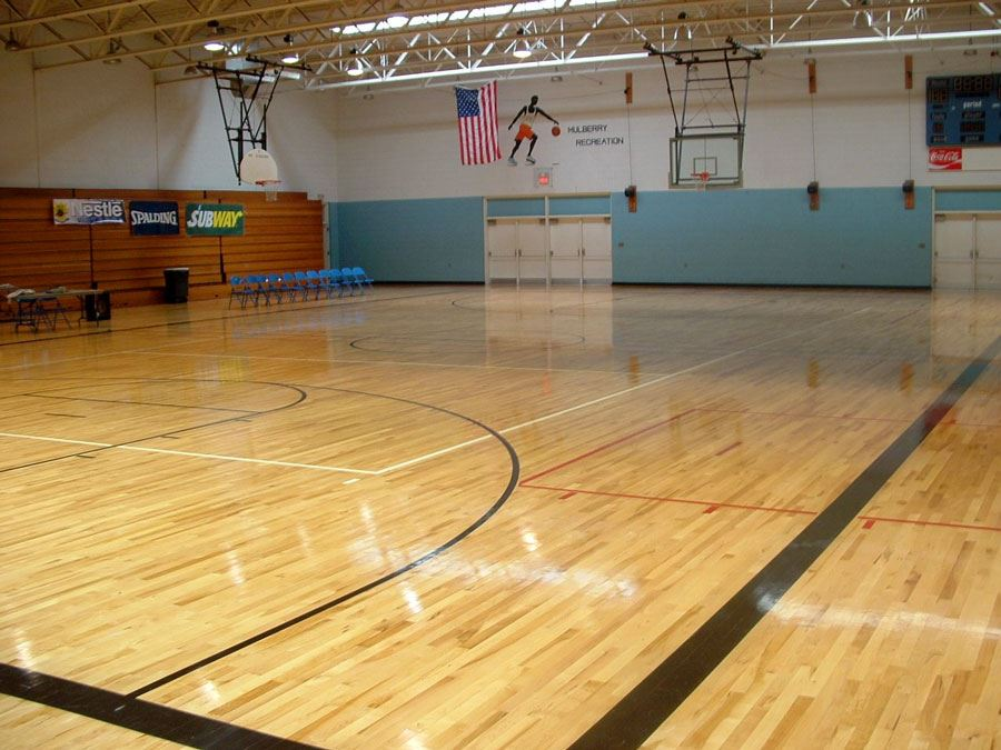 Gym inside Mulberry Recreation Center in Lenoir