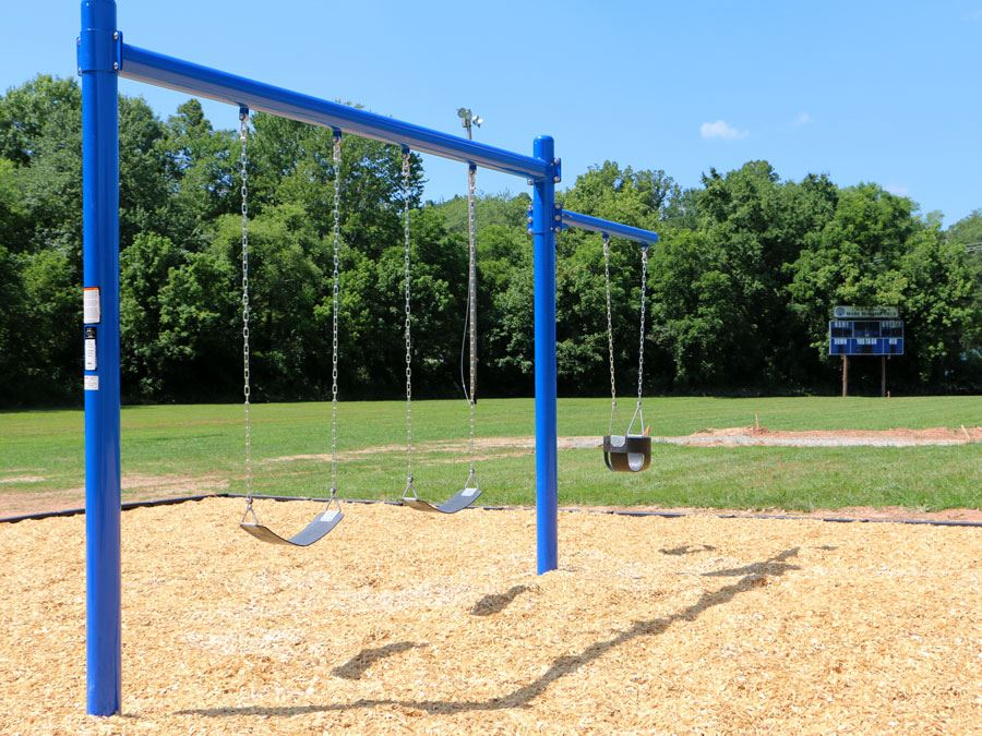 Swings at Lenoir Optimist Park in Lenoir