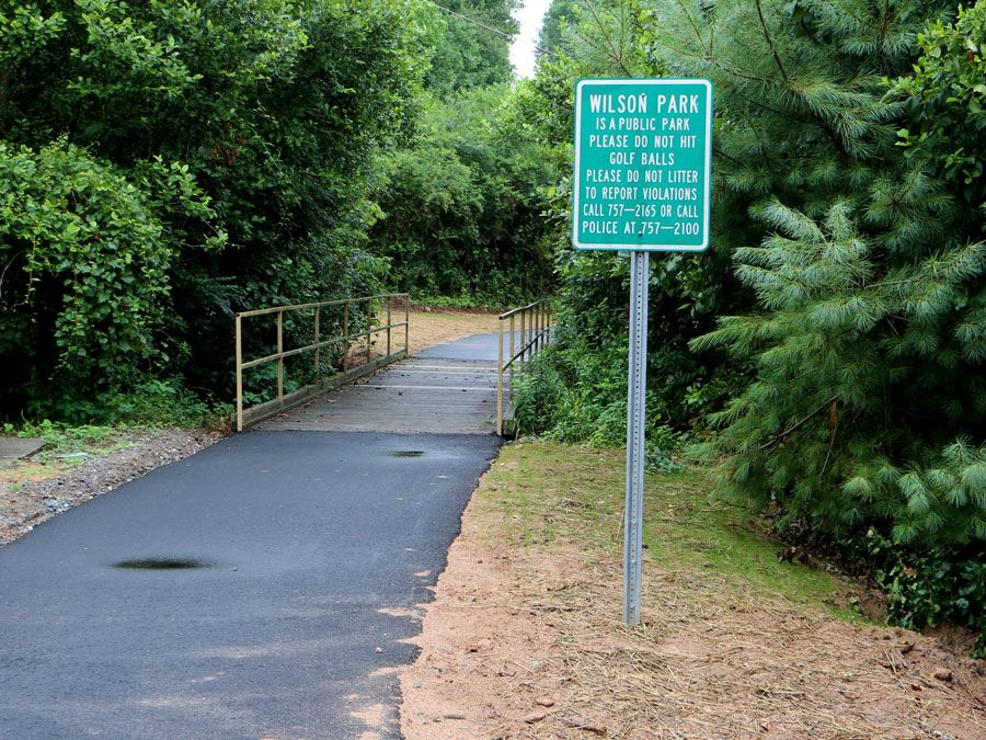 Greenway Access Path  at Wilson Athletic Park in Lenoir