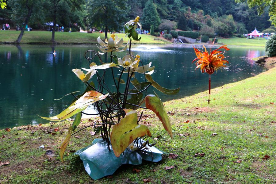 Sculpture Celebration 2018 at Broyhill Walking Park in Lenoir