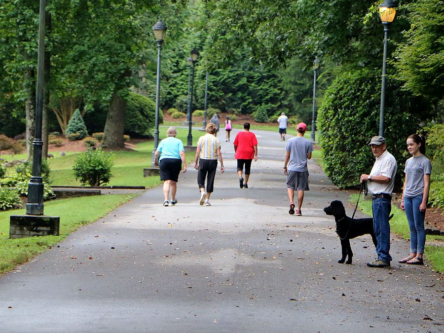 People Walking at Broyhill Walking Park in Lenoir