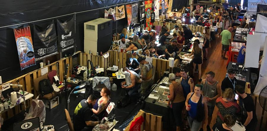 Overview of the Carolina Tattoo and Arts Gathering 2018 in Downtown Lenoir