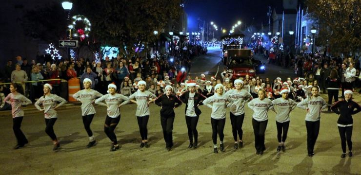 Star Steps dancers perform in Downtown Lenoir during the 2018 Christmas Parade