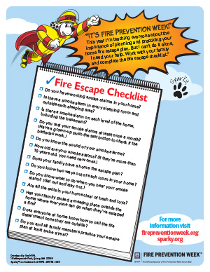 Fire Escape Checklist