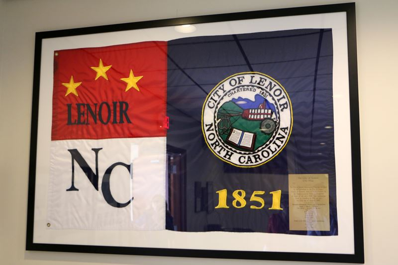 City of Lenoir North Carolina 1851 Flag