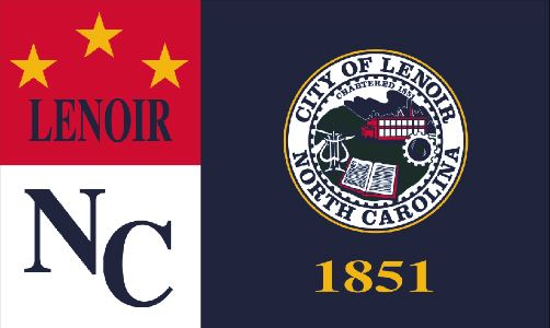 The City of Lenoir flag.